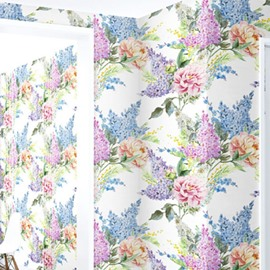 3D Gorgeous Flowers PVC Sturdy Waterproof and Eco-friendly Self-Adhesive Wall Mural