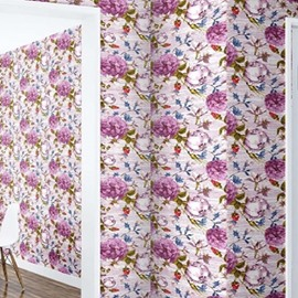 3D Flowers Printed PVC Sturdy Waterproof and Eco-friendly Self-Adhesive Wall Mural