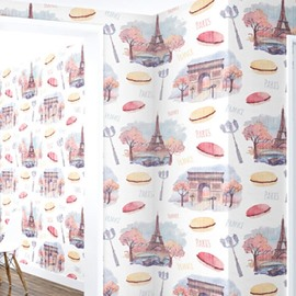 3D Tower Gate Cookies PVC Sturdy Waterproof and Eco-friendly White Wall Mural