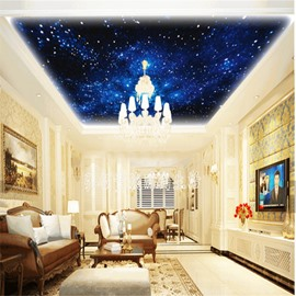 3D Galaxy Pattern Waterproof Durable and Eco-friendly Self-Adhesive Ceiling Murals