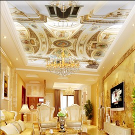 3D Galley PVC Waterproof Sturdy Eco-friendly Self-Adhesive Ceiling Murals
