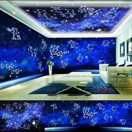 Blue Zodiac Animals Pattern 3D Waterproof Ceiling and Wall Murals