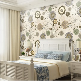 Waterproof Mildew Resistant Silk Cloth Material European Style Wall Murals
