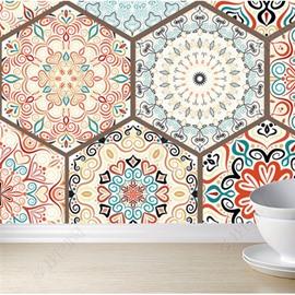 Self-Adhesive Silk Cloth Material Bohemian Style Waterproof Wall Murals