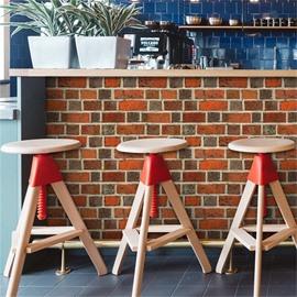 Old Orange Brick Pattern Creative Home Decor 3D Waterproof Wall Mural