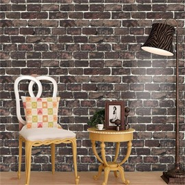 Brick Pattern Retro Style PVC Material Waterproof 3D Wall Mural