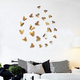 Beautiful Vivid Butterflies 36-Piece Kids Home Decor 3D Hollow Out Paper Wall Sticker