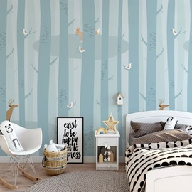 Simple Design Waterproof Environment Friendly Non-woven Fabric Kids Room Wall Mural