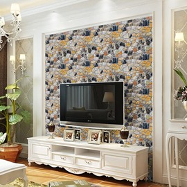 Easily Removable Wallpaper 3D Effect Stone Paper Peel