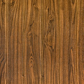 Imitation Wood Grain Foam Wall Stickers Moistureproof Mildew Wall Decorations 1 Piece 28x28inch
