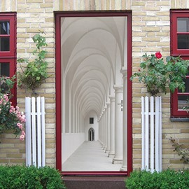 White Space Third Dimension Creative door Stickers  Wall Decorations