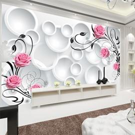 Gorgeous European Pattern Design Waterproof Splicing 3D Wall Murals PVC