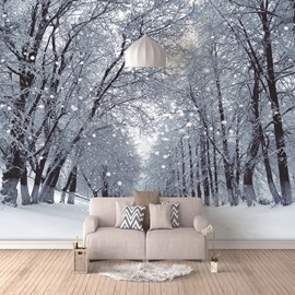 3D Snow Scene Self-adhesive Wall Murals Eco-friendly Waterproof Anti-fouling Wall Decorations