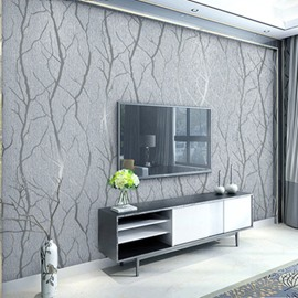 Modern 3D Thick Non-Woven Imitation Deerskin Embossed Curve Pattern Living Room Bedroom TV Background Wallpaper Wall Murals