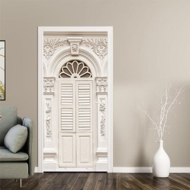 3D Door Wall Stickers Mural Art Decals Removable Self-adhesive Vinyl Home Decor