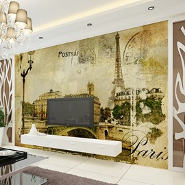 Fancy Eiffel Tower Paris Scenery Pattern Waterproof 3D Wall Murals