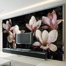 Beautiful Magnolia Flower Pattern Design Home Decorative Waterproof 3D Wall Murals