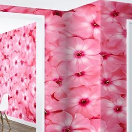 Pink Phlox Printings Waterproof Durable and Eco-friendly 3D Wall Mural
