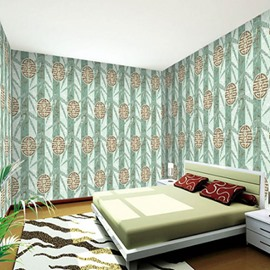 Green Trees and Traditional Pattern Durable Waterproof and Eco-friendly 3D Wall Mural