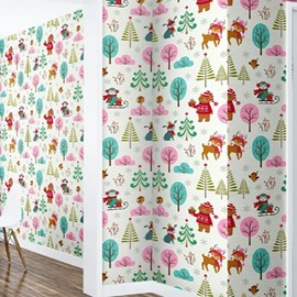 Trees Bears and Deer Durable Waterproof and Eco-friendly 3D Wall Mural
