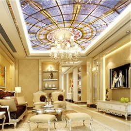 Dome Pattern Waterproof Durable and Eco-friendly 3D Ceiling Murals
