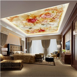 Flowers around Kids Pattern Waterproof Durable and Eco-friendly 3D Ceiling Murals
