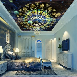3D Strasbourg Cathedral Ceiling Printed Waterproof Durable and Eco-friendly Ceiling Murals