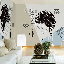 3D Chaotic Design PVC Sturdy Waterproof Eco-friendly Self-Adhesive Wall Mural