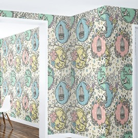 3D Branches Cages Printed PVC Sturdy Waterproof Eco-friendly Self-Adhesive Wall Mural