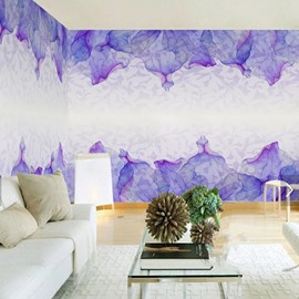 3D Purple Petals Surrounding Murals Printed Sturdy Waterproof and Eco-friendly Wall Mural