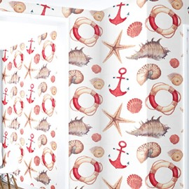 3D Starfish Conch Shell Snail PVC Sturdy Waterproof and Eco-friendly Wall Mural