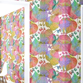 3D Colored Leaves Printed Sturdy Waterproof and Eco-friendly Wall Mural