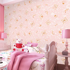 3D Pink Background with Pegs Printed Sturdy Waterproof and Eco-friendly Wall Mural