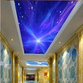 3D Blue Galaxy Pattern Waterproof Durable and Eco-friendly Ceiling Murals