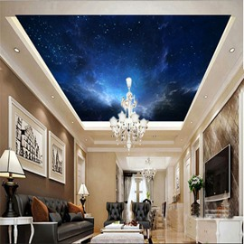 3D Gloomy Galaxy Printed Waterproof Durable Eco-friendly Self-Adhesive Ceiling Murals