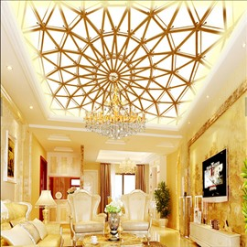 3D Ceiling PVC Waterproof Sturdy Eco-friendly Self-Adhesive Ceiling Murals