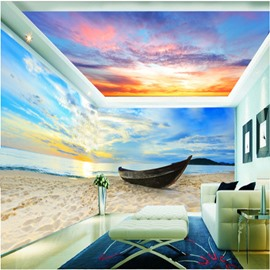 Sunrise and Sunset Cloud Pattern 3D Waterproof Ceiling and Wall Murals