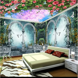 Rose and Trees Arch Pattern 3D Waterproof Ceiling and Wall Murals