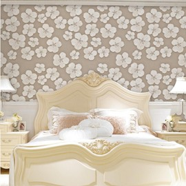 European Style Silk Cloth Material Self-Adhesive Moist Resistant Wall Murals