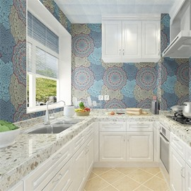 Bohemian Style Waterproof Silk Cloth Material Mildew Resistant Wall Murals