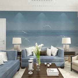 Waterproof Sea Gull Non-woven Fabrics Environment Friendly 3D Wall Murals/Wallpaper