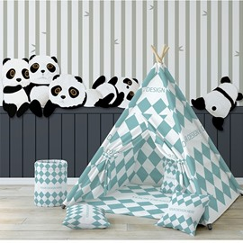 Environment Friendly Cute Panda Non-woven Fabrics Waterproof Kids Room Wall Mural