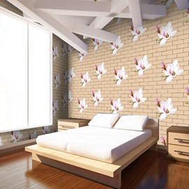 Brick And Pattern Non-woven Fabrics Environment Friendly Waterproof Wall Mural