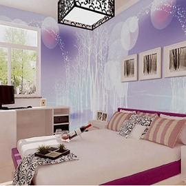 Environment Friendly Waterproof Non-woven Fabrics Dreamful Style Wall Mural
