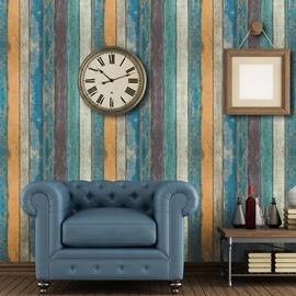 3D Effect Wood Distressed Wood Grain Self-Adhesive Peel-Stick Wallpaper