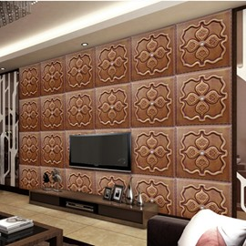 Classic European Style Flower Plaid Pattern Home Decorative Wall Murals