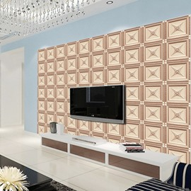 Fancy Creative Regular Plaid Pattern TV Background Decoration Wall Murals
