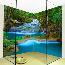 Fancy Mountain Stream Natural Scenery Design Waterproof 3D Bathroom Wall Murals
