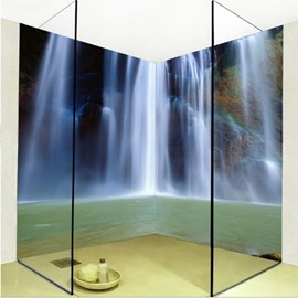 Natural Creative Waterfall Pattern Design Waterproof Splicing 3D Bathroom Wall Murals