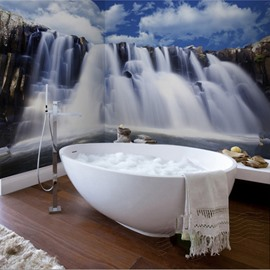 Waterfalls Waterproof Durable and Eco-friendly Bathroom 3D Wall Murals
